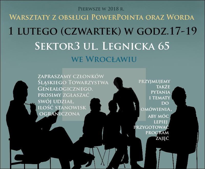 Zaktualizowano warsztaty – Śląskie Towarzystwo Genealogiczne we Wrocławiu QD46
